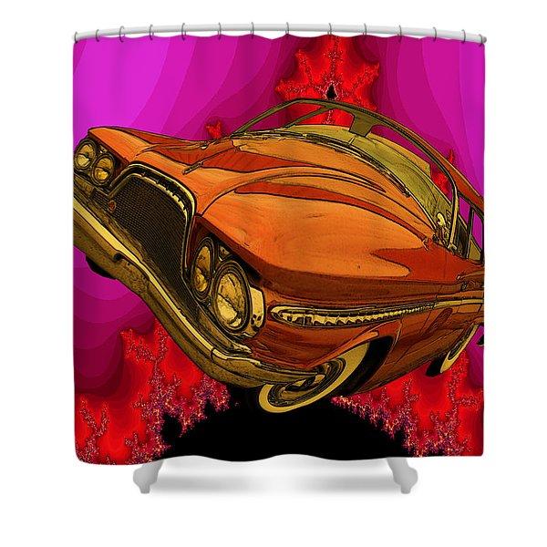 Shower Curtain featuring the digital art Sun Burst by Tristan Armstrong