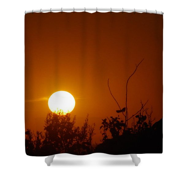Sun Down In The Badlands Shower Curtain