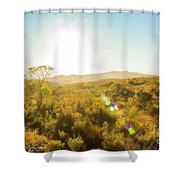 Sun Flare Prairie  Shower Curtain