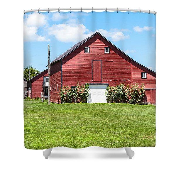 Sun Flower Barn Shower Curtain