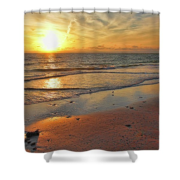 Sun Glow Shower Curtain