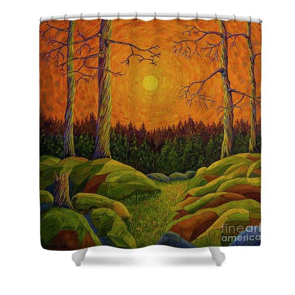 Sun Glow Shower Curtain