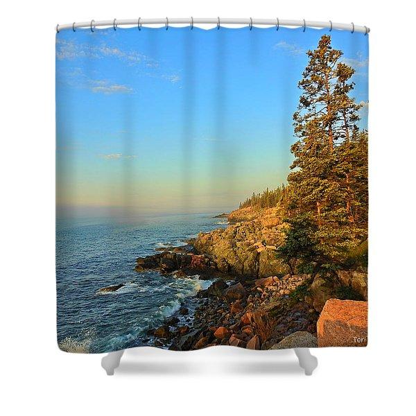 Sun-kissed Coast Shower Curtain