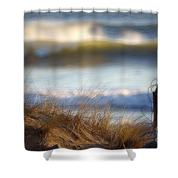 Sun Kissed Waves Shower Curtain