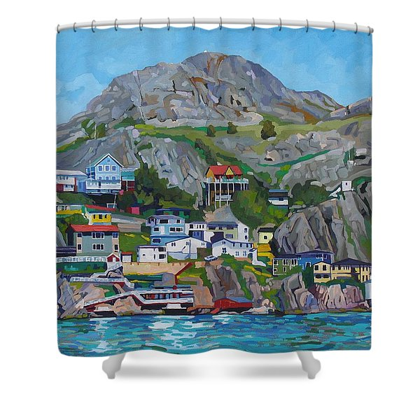 Sun Of The Battery Shower Curtain
