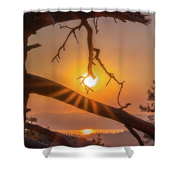 Sun Ornament - Cropped Shower Curtain