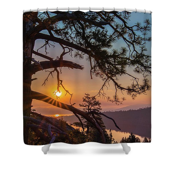 Sun Ornament Shower Curtain