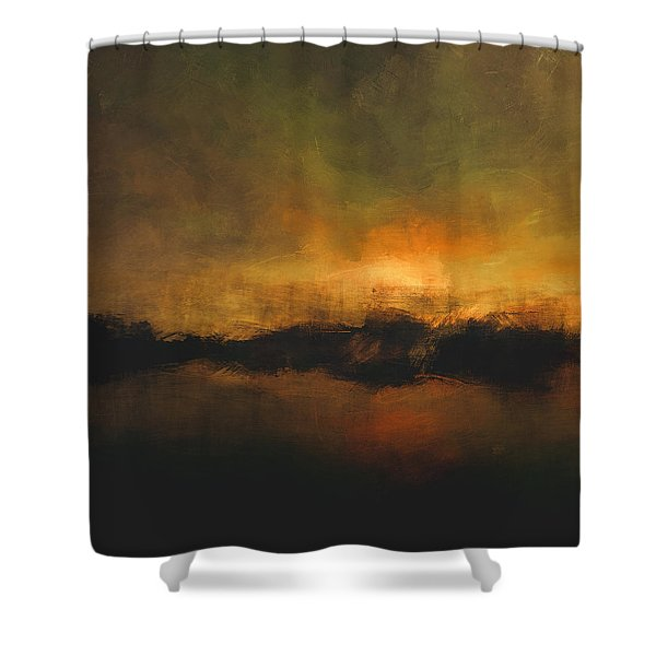 Sun Over Treeline Shower Curtain