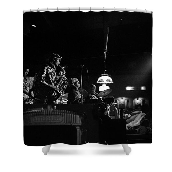 Sun Ra Arkestra At The Red Garter 1970 Nyc 21 Shower Curtain