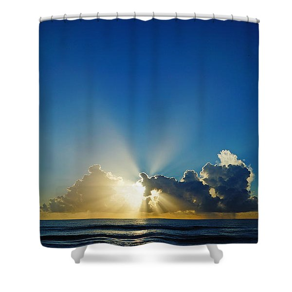 Sun Ray Sunrise Shower Curtain