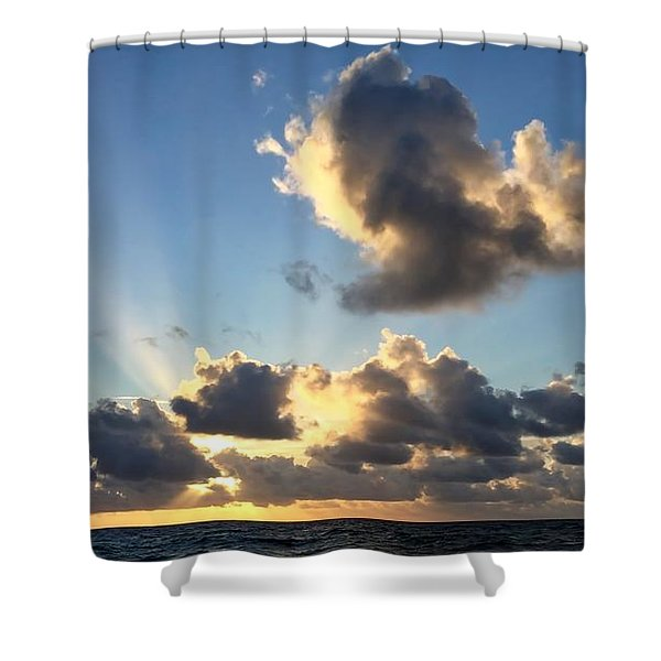 Sun Rays And The Cloud Shower Curtain