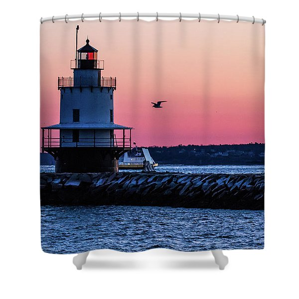 Sun Rise At Spring Point Shower Curtain