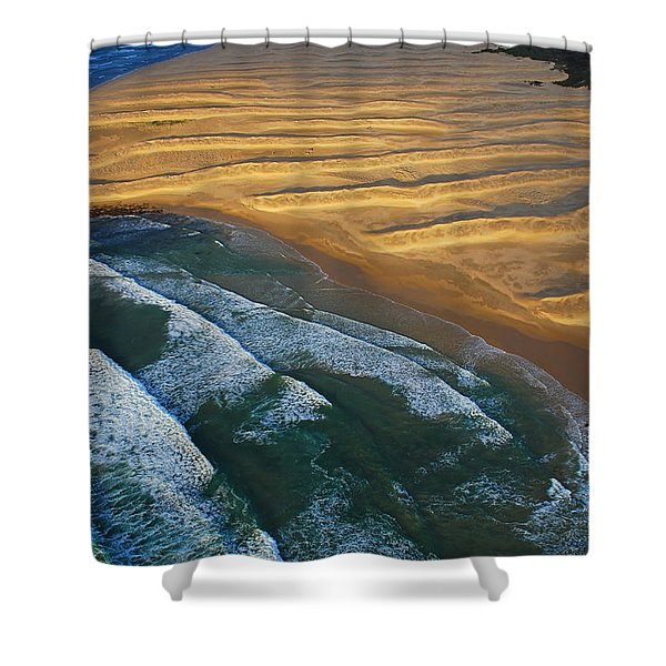 Sun Rise Coast  Shower Curtain