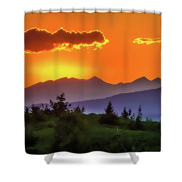 Sun Rising Shower Curtain
