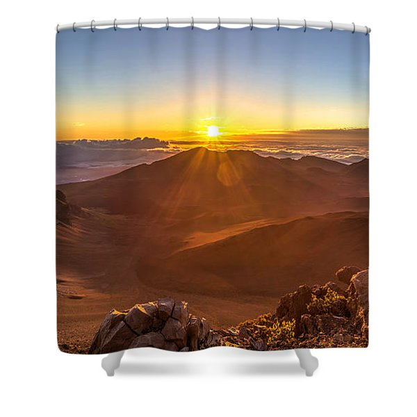 Sun Rising Mount Haleakala Shower Curtain