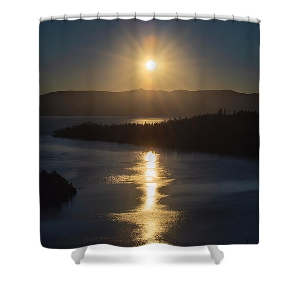 Sun Rising Over Lake Tahoe Shower Curtain