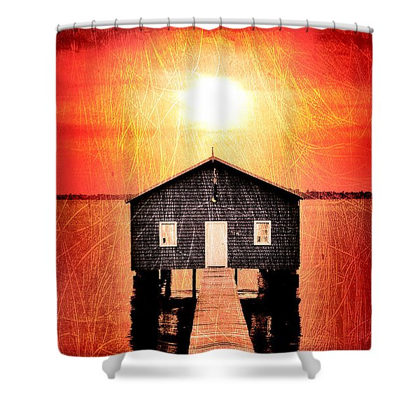 Sun Scars Shower Curtain