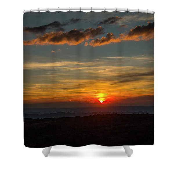 Sun Settling Into The Canyons Shower Curtain
