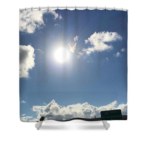 Sun Sky Angel Shower Curtain