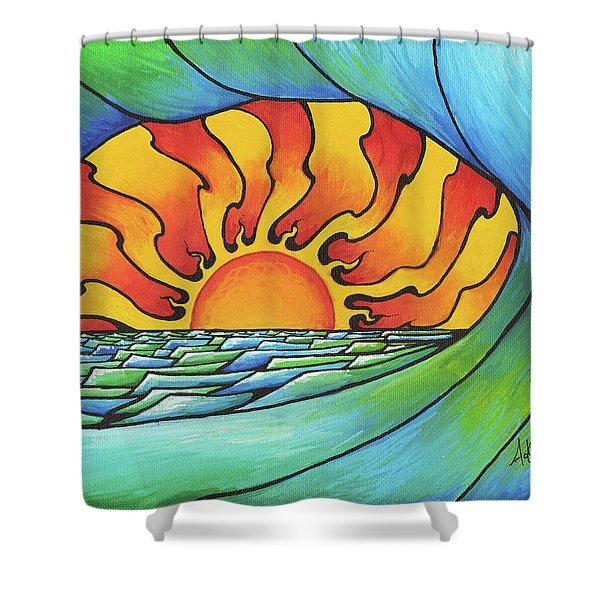 Sun Through The Curl Shower Curtain