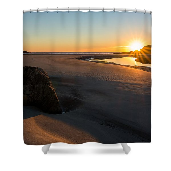 Sun Up Good Harbor Shower Curtain
