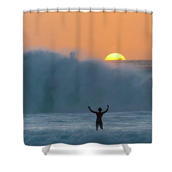 Sun Worship Shower Curtain