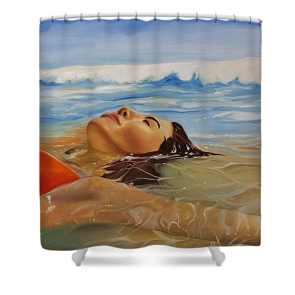 Sunbather Shower Curtain