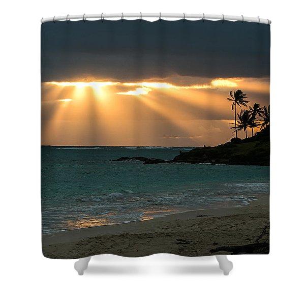Sunburst At Kailua Shower Curtain