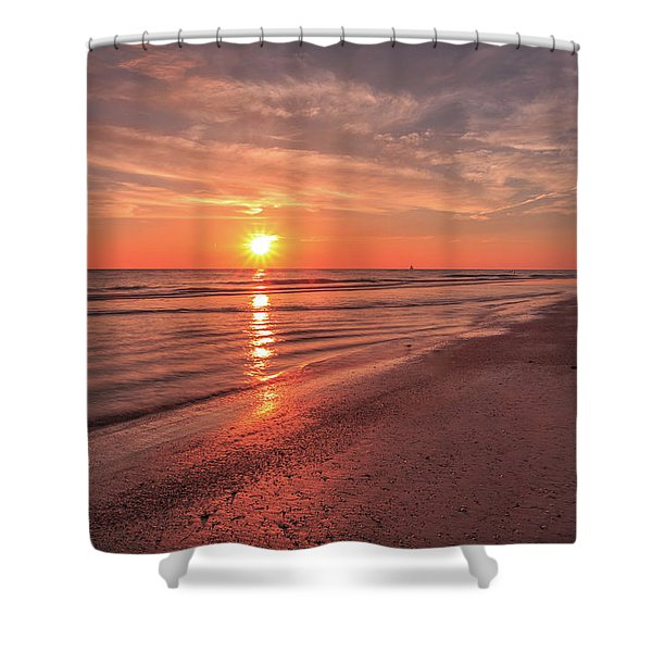 Sunburst At Sunset Shower Curtain