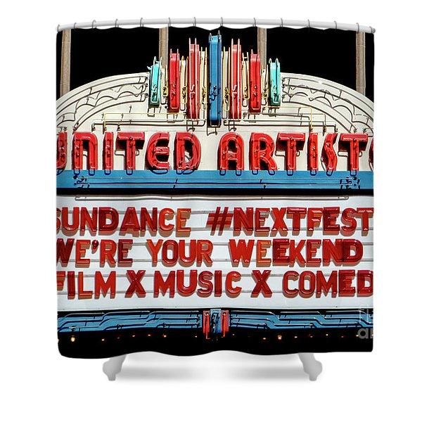 Sundance Next Fest Theatre Sign 1 Shower Curtain
