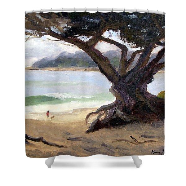 Sunday Afternoon Carmel Beach Shower Curtain