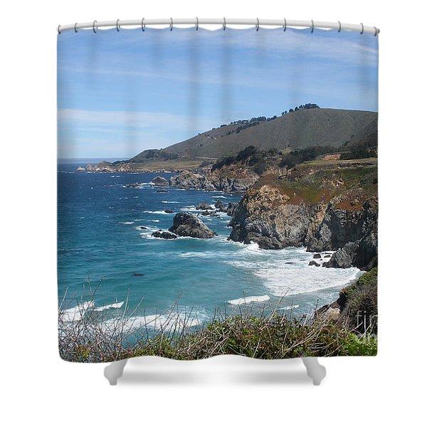 Sunday Drive - California Coast Shower Curtain