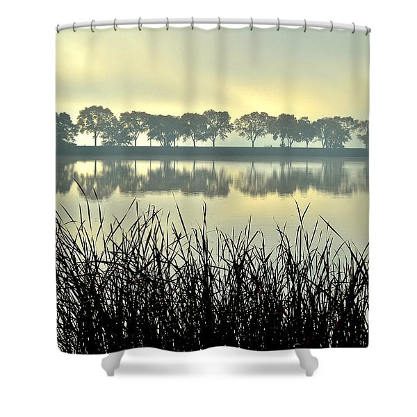 Fog At Sunrise Shower Curtain