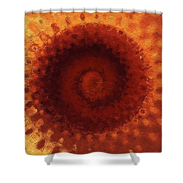 Shower Curtain featuring the painting Sundial by Mark Taylor