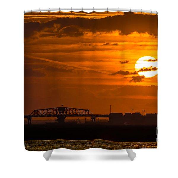 Sundown On The Charleston Coast  Shower Curtain