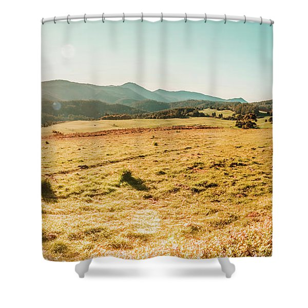 Sundown Prairie Shower Curtain