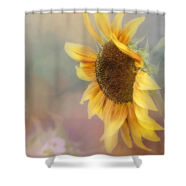Sunflower Art - Be The Sunflower Shower Curtain