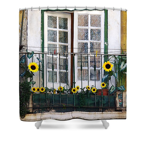 Sunflower Balcony Shower Curtain