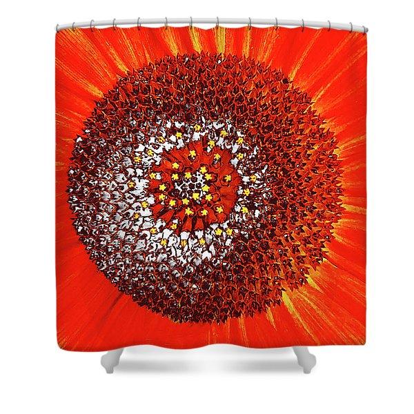 Sunflower Close Shower Curtain