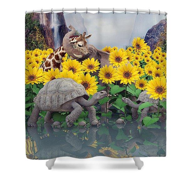 Sunflower Daydream  Shower Curtain