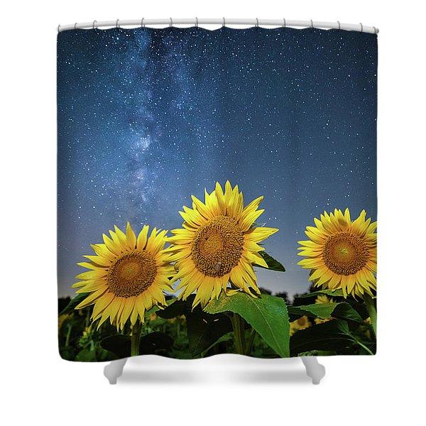 Sunflower Galaxy II Shower Curtain