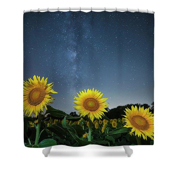 Sunflower Galaxy V Shower Curtain