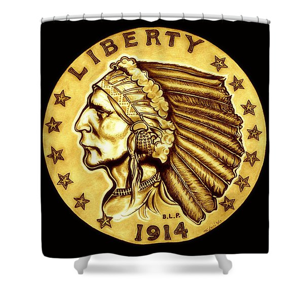 Sunflower Gold Quarter Eagle Shower Curtain