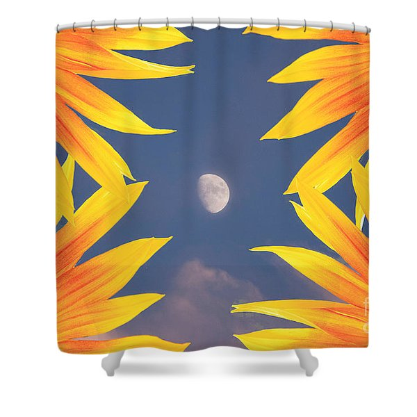 Sunflower Moon Shower Curtain