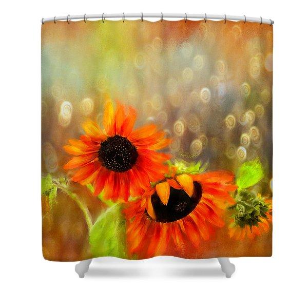 Sunflower Rain Shower Curtain