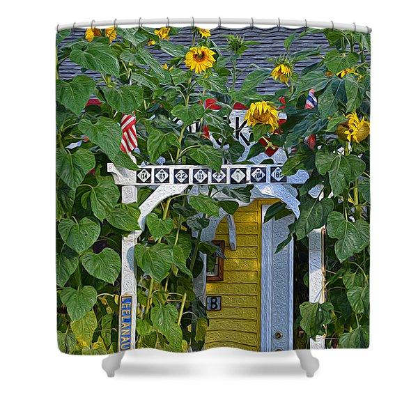 Sunflower Roads Shower Curtain
