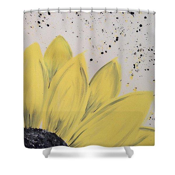 Sunflower Splatter Shower Curtain