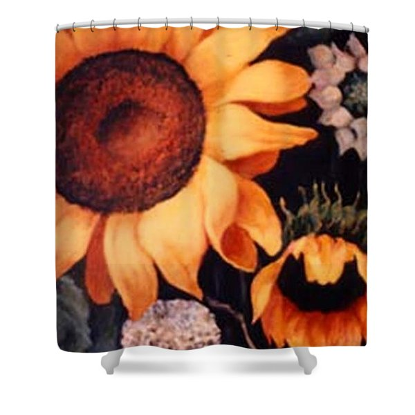 Sunflowers And More Sunflowers Shower Curtain