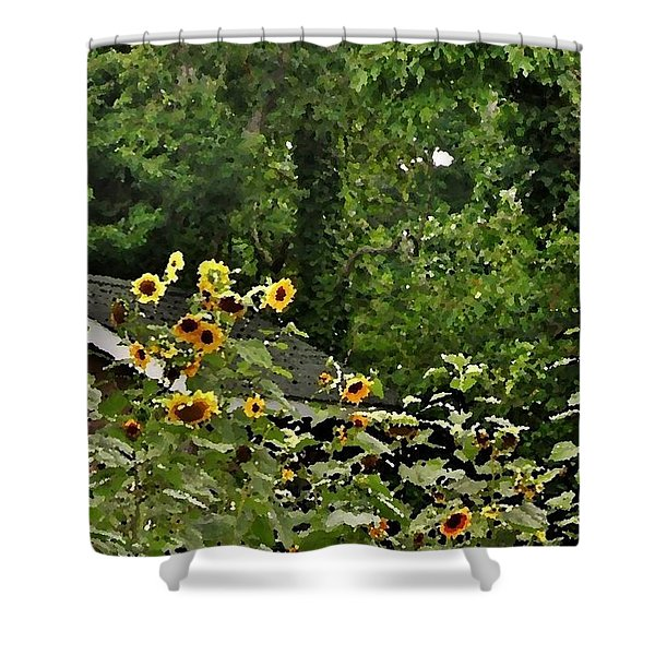 Sunflowers At The Good Earth Market Shower Curtain