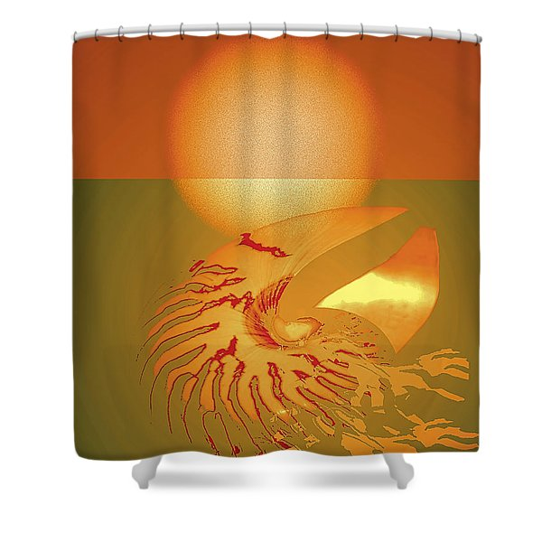 Shower Curtain featuring the digital art Sungazing by Eleni Mac Synodinos